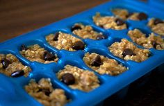 Use your ice cube tray to portion out homemade cookie dough.