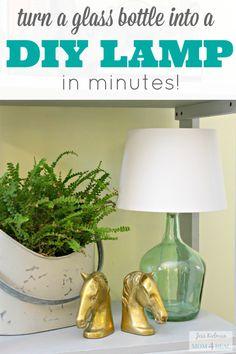 DIY Lamp in minutes!  via @mom4real