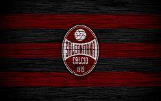 Download wallpapers US Salernitana 1919, Serie B, 4k, football, wooden texture, red black lines, Italian football club, Salernitana FC, logo, emblem, Salerno, Italy