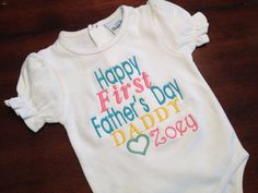Happy First Father's Day Daddy from Daughter by BeautifulKnots, $18.00