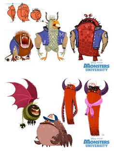 Monsters University - ChrisSassaki - Art of Pixar Animation Studios - Blog/Website | (www.pixar.com) ★ || CHARACTER DESIGN REFERENCES | マンガの描き方 • Find more artworks at https://www.facebook.com/CharacterDesignReferences  http://www.pinterest.com/characterdesigh and learn how to draw: #concept #art #animation #anime #comics || ★
