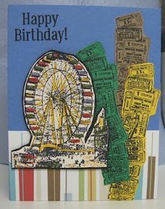 DJ's Sundries: Ferris Wheel Birthday Card