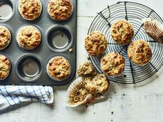 These muffins are perfect for prepping in advance and having in the morning when you're on the go. This one is from Cycle 1 of my new Veggie 90 Day Plan. Healthy Foods To Eat, Healthy Snacks, Healthy Recipes, Diet Recipes, Healthy Eating, Nutritious Snacks, Clean Recipes, Veggie Recipes, Soup Recipes