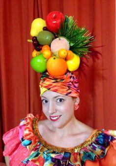Deluxe Fruit Headdress, Carmen Miranda Tutti Fruity Hat, 1940's Hollywood Costume, Mardi Gras Costume, Chiquita Banana Hat by RogueTurbans on Etsy https://www.etsy.com/au/listing/203471675/deluxe-fruit-headdress-carmen-miranda