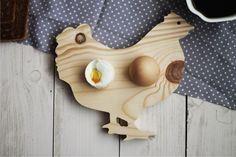 Hand crafted wooden egg stands.
