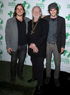 Willie Nelson Photos Photos - Global Green USA's 10th Annual Pre-Oscar Party..Avalon, Hollywood, CA..February 20, 2013..Job: 130220A1..(Photo by Axelle Woussen)..Pictured: Willie Nelson with sons Lukas Nelson and Jacob Micah Nelson.. - Celebs at a Pre-Oscar Party in Hollywood