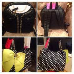 Betsey Johnson Bundle Bundle backpack and purse what a great combination Betsey Johnson Bags Backpacks