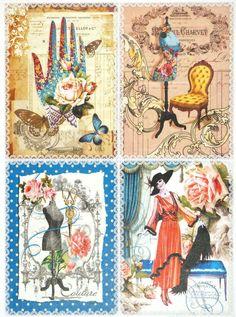 Rice Paper for Decoupage Decopatch Scrapbook Craft Sheet Vintage Haute Couture