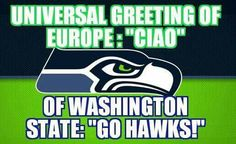 Seriously!  I was shopping and I helped this lady and instead saying thank you, she just said go seahawks...