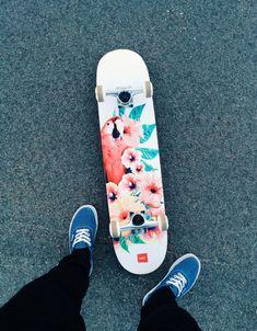 Amelia — Look at my new skateboard.