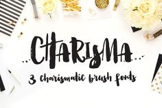 Charisma Brush Fonts with Extras