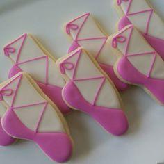 Ballet slipper sugar cookies12 by SweetGirlSugarCookie on Etsy