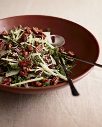 Kale & Apple Salad with Pancetta and Candied Pecans - made this last week and it was delicious. great mix of bitter and sweet with a nice crunch!