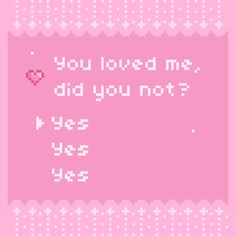 """jelly-ultra: """"I haven't done pixels in awhile and I had this idea. Came out kind of plain sorry(*/ n\*) This was my first time trying a text box style. Maybe I will try again sometime ♡ /spoilers/ the. Aesthetic Images, Aesthetic Videos, Aesthetic Anime, Aesthetic Wallpapers, Text Tattoo, Cute Text, Roses Pink, Overlays, Yuno Gasai"""