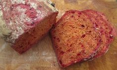 Beetroot and caraway bread