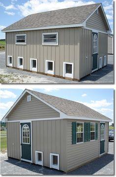 best dog boarding kennel building | Storage Sheds - Lancaster County Barns: Custom Dog Kennels