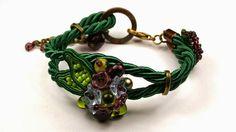 Larris handmade soutache and OOAK: Floral soutache bracelet
