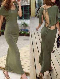 Beautiful Backless Maxi Dress