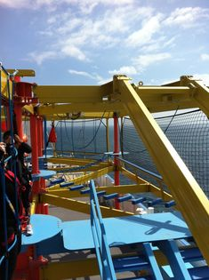 Ropes course on the Norwegian Breakaway. This excites me...I love stuff like this!!!