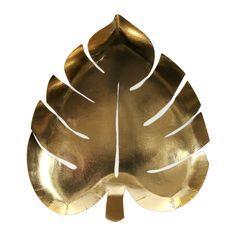 Gold Palm Leaf Plate