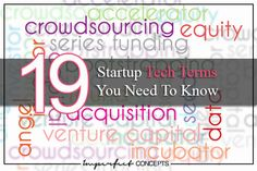 19 Startup Tech Terms You Need To Know #imperfectconcepts