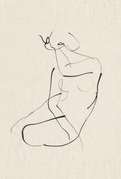 Aurore de La Morinerie minimalist line art figure drawing Gesture Drawing, Life Drawing, Drawing Sketches, Painting & Drawing, Art Drawings, Anatomy Drawing, Rodin Drawing, Contour Line Drawing, Drawing Models