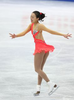 Mao Asada of Japan competes in the Women's Short Program during day two of the ISU Four Continents Figure Skating Championships at Osaka Municipal Central Gymnasium on February 9, 2013 in Osaka, Japan.