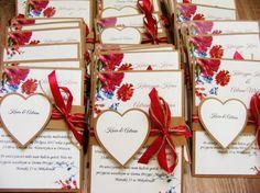 Zaproszenia ślubne piwonie burgundowe