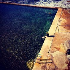 A winter's swim at Wylie's Baths, Coogee NSW