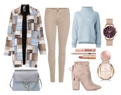 """""""Blue beige casual look"""" by stacyco ❤ liked on Polyvore featuring Norma Kamali, Kendall + Kylie, 7 For All Mankind, Le Kasha, Chloé, Bulgari, Henry London and Dolce Vita"""