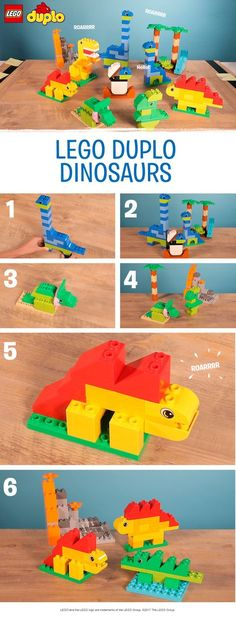 Does your child love dinosaurs? Then why not use their LEGO DUPLO bricks to build these ROAR-some friendly beasts together. They could make a terrifying Tyrannosaurus, a spiky Stegosaurus, a beautiful Brontosaurus – or even invent their very own dinosaur. Be sure to encourage them to build a wild LEGO DUPLO landscape so the dinos have somewhere to live too!