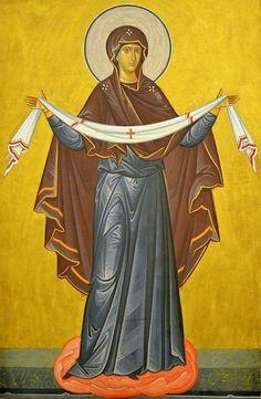 Byzantine Icons, Byzantine Art, Orthodox Christianity, Hail Mary, Religious Icons, Love Mom, Orthodox Icons, Blessed Mother, Virgin Mary
