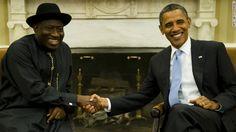 President Goodluck Ebele Azikiwe Jonathan and United States president, Barack Hussein Obama II