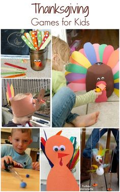 Fun ideas to help keep kids busy on Thanksgiving Day. Includes creative Thanksgiving games to play indoors and outdoors