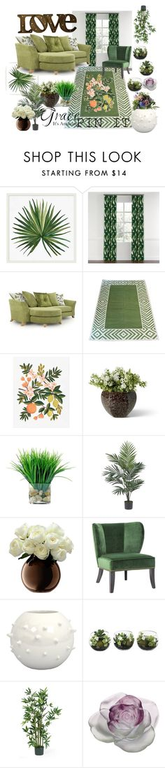 """""""Plant some beauty"""" by cutiepiesparkles on Polyvore featuring interior, interiors, interior design, home, home decor, interior decorating, Pottery Barn, Madeline Weinrib, Rifle Paper Co and Nearly Natural"""
