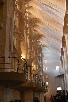 La Sagrada Familia. Antoni Gaudi. Barcelona, Catalonia. Gaudi started work on the project in 1883. Building still under construction. Estimated completion 2026.