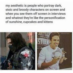Sebastian Stan and Tom Hiddleston are perfect examples