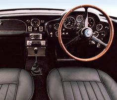 Beauty never dies. The interior from the classic Aston Martin DB5 is as perfect as ever before.