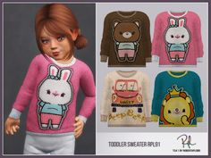 :: 4 swatches Found in TSR Category 'Sims 4 Toddler Female' The Sims, Sims Cc, Toddler Sweater, Toddler Dress, Sims 4 Toddler, Toddler Boys, Sims Community, Sims 4 Cc Finds, Sims 4 Clothing