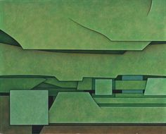 Artist: Gunther Gerzso (Mexican 1915 - 2000)Title:Paisaje-surMedium:oil on canvas