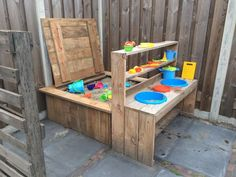 outdoor play area for kids – Kids' Playground . Kids Outdoor Play, Outdoor Play Spaces, Kids Play Area, Backyard For Kids, Outdoor Fun, Diy For Kids, Mud Kitchen, Sand Pit, Backyard Playground