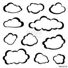Bildergebnis für silhouette wolken vektor