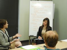 """Casey Bauer and Mary Guckert discuss the """"Employers Perspective"""" at the ADHD in the Workplace event on Jan 10, 2015"""