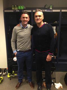 Robbie Keane and Morrissey
