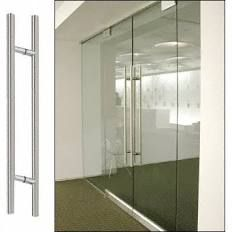 """CR Laurence Brushed Stainless 60"""" Extra Length Ladder Style Back-to-Back Pull 60LPBS"""