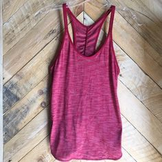 Lululemon What The Sport Singlet II Heathered Cranberry. Size 4. Worn 1-2 times. lululemon athletica Tops Tank Tops