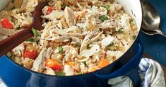 A distant cousin of pilau, Chicken Bog combines the best qualities of both chicken & rice.