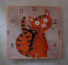 Cat clock, Red cat clock.