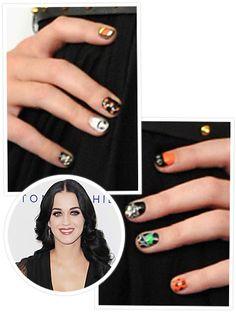 Katy Perry 's Halloween Nails #beauty #nails