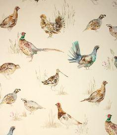 Voyage Decoration Game Birds Fabric / Cream | Just Fabrics